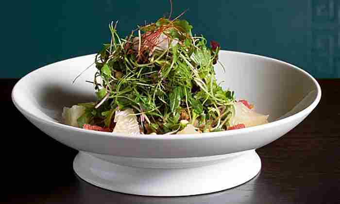 Crispy duck and pomelo salad at Hakkasan