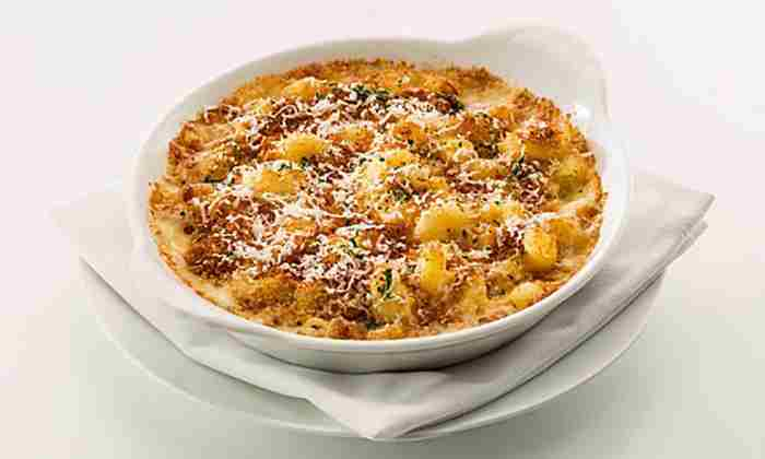 Mac and cheese at Cut by Wolfgang Puck