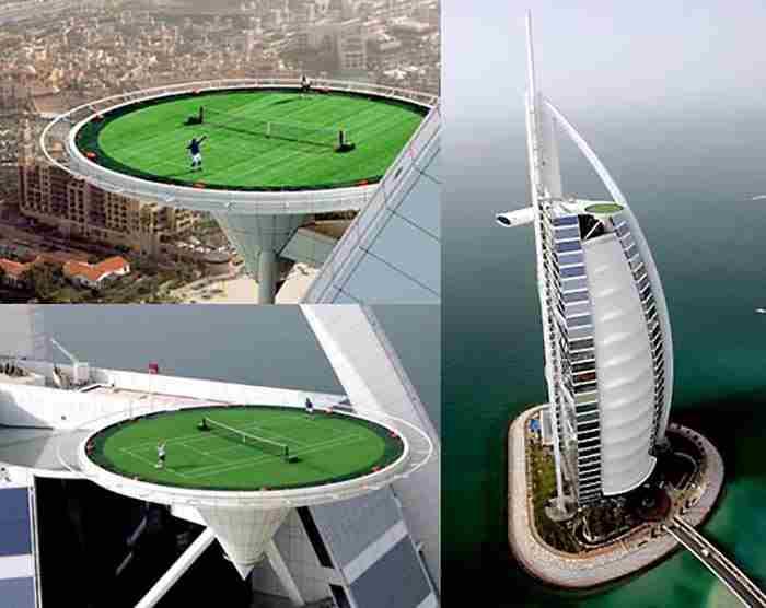 بلندترین زمین تنیس جهان در دبی