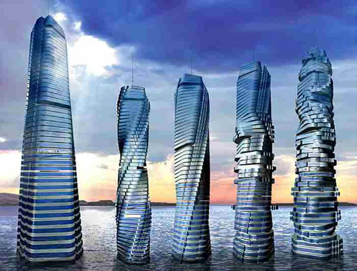 ساخت نخستین آسمان خراش چرخشی دنیا تا سال ۲۰۲۰ در دبی