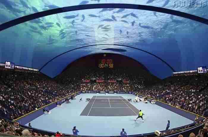 مسابقات تنیس دبی در زیر آب های خلیج فارس
