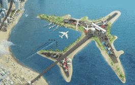فرودگاه خاص دبی در وسط خلیج