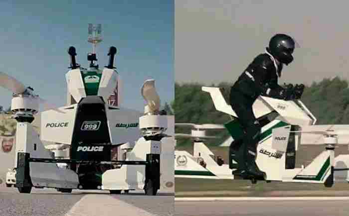 پلیس دبی استفاده از موتور های هاور برد را تست میکند