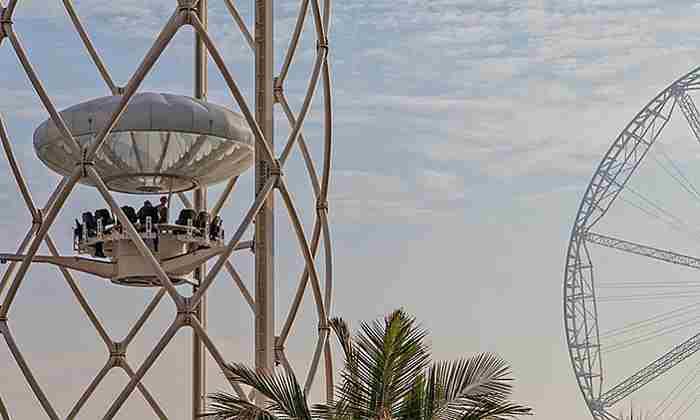 هیجان نوشیدن قهوه در ارتفاع 40 متری - کافه فنجان پرنده دبی
