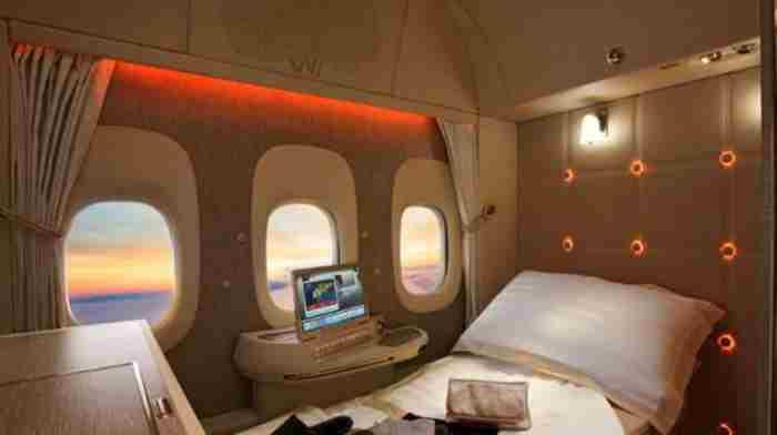 امارات سوییت های شخصی در هواپیماهای بویینگ 777 خود را رونمایی کرد.