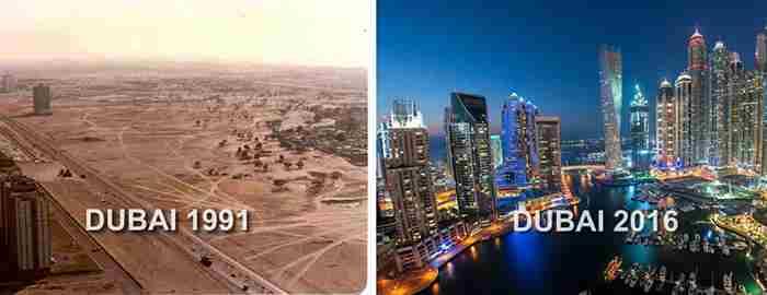 تغییرات شگفت انگیز دبی از ۳۳ سال پیش تا امروز