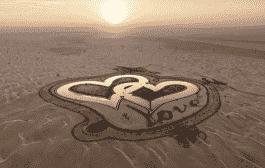 دریاچه عشق دبی - دریاچه ای به شکل قلب