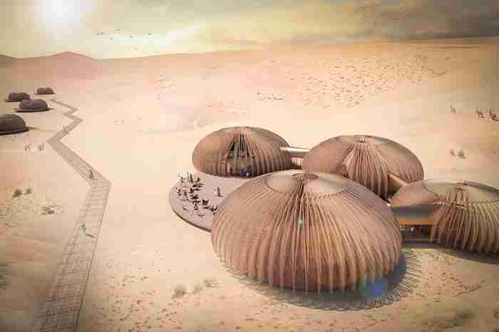 پروژه خیره کننده هتل صحرایی در ابوظبی