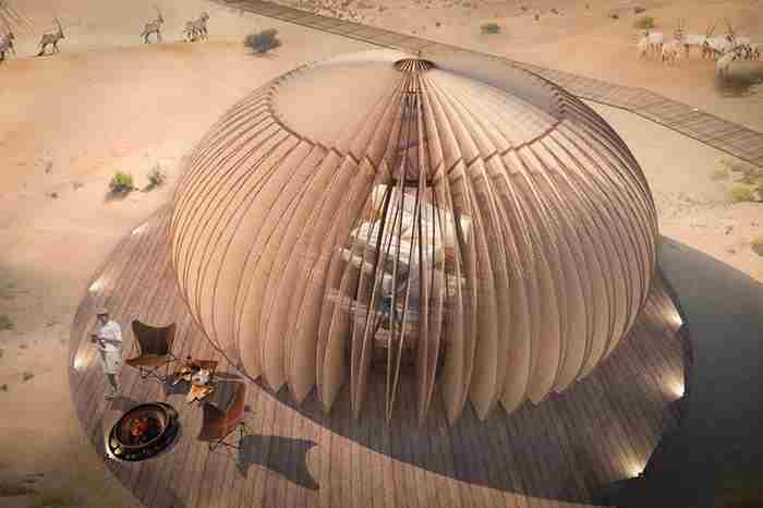 هتل صحرایی در ابوظبی