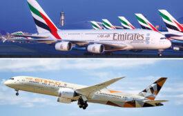 هواپیمایی امارات و اتحاد از امن ترین خطوط هوایی برتر جهان